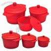 3-size Round Silicone Bowl, Food Container, Steamers