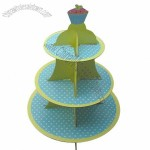 3-tier Cupcake Stand, Made of Cardboard, for Party Favors
