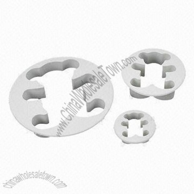3 x Bear Cake Cookies Cutter, Plunger Paste Fondant Sugarcraft Decorating