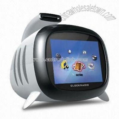 3.5-inch Digital Photo Frame with Clock and FM Radio