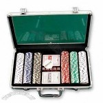 300-piece Poker Chip Set in Clarity Aluminum Case