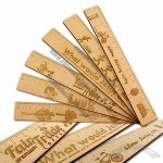 30cm Wooden ECO Ruler