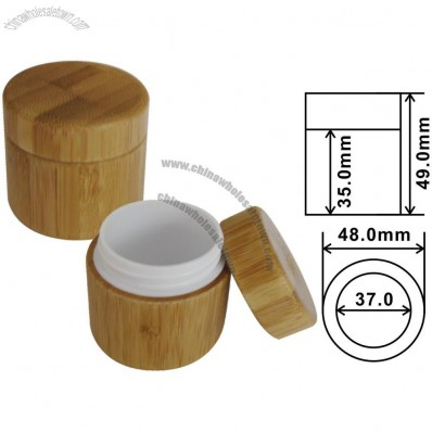 30g Bamboo Cosmetic Cream Container