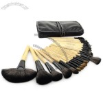 32 PCS Professional Makeup Brush Cosmetic Beauty Brush Set with Black Leather Case