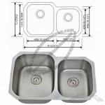 32-inch 60/40 Double Bowl 202 Stainless Steel Undermount Kitchen Sink