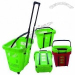 32L Rolling Shopping Basket