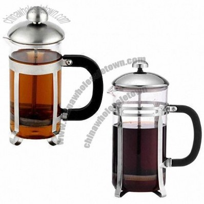 350mL Coffee Plunger Set with Sand Polish, Filtrate Device and Plastic Handle