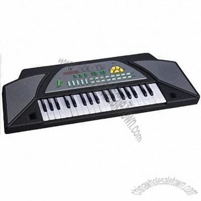 37-key Electronic Keyboard, Vibrato, Powered by 9V DC