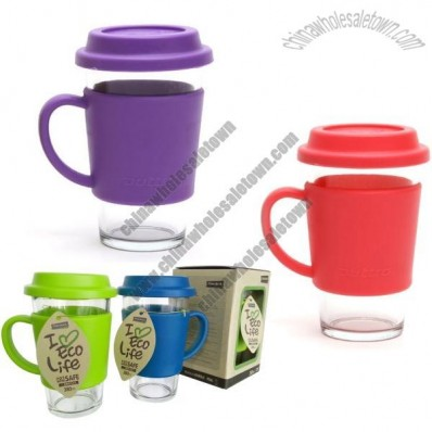 380ml GlassLock Ottro Glass Tumbler with Handle