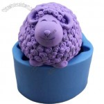 3D Cute Sheep Silicone Soap Mould