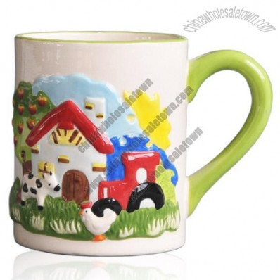3D Farm Relief Ceramic Mugs