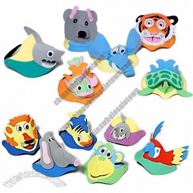 3D Foam Sun Visors with Animal Heads