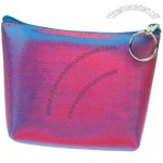 3D Lenticular Purse w/Key Ring Stock / Blue Pink Purple
