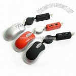 3D Mini Optical Mouse with USB Hub