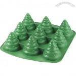 3D Silicone Christmas Tree Cake Cupcake Shaped Pan Mold Bakeware