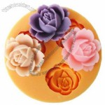 3D Silicone Soap Molds Flower Plunger Candle Candy Jelly Cake Craft Mould