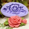 3D Silicone resin Rose Flower Chocolate Soap Mould