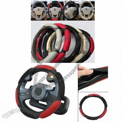 3D Suede Fabric Rubber Steering Wheel Cover