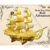 3D Wooden Puzzles-Pirate Ship