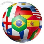 3D football soccer ball with world teams flags