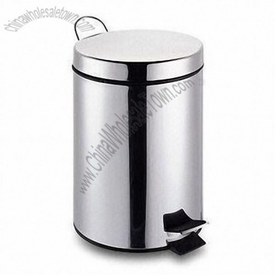 3L Stainless Steel Round Pedal Garbage Bin