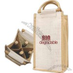 4 Bottle Jute Wine Bag