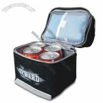 4 Can Cooler Bag with Inner PU Coated Zipper Closure