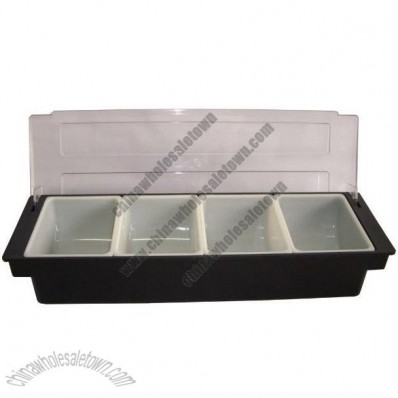4 Compartment Plastic Condiment Holder