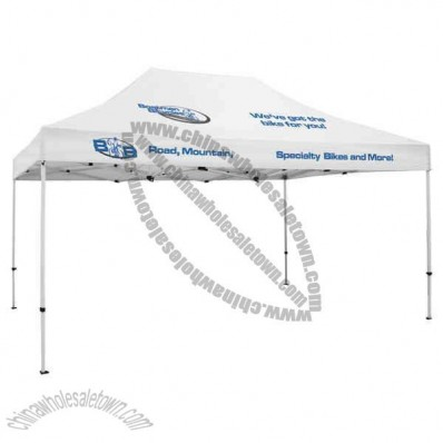 4 Locations - Deluxe 10' x 15' tent with a full-color thermal imprint