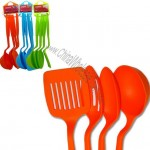 4 Pcs Nylon Slotted Spatula Turner Spoons Utensils Set Cooking Kitchen 11
