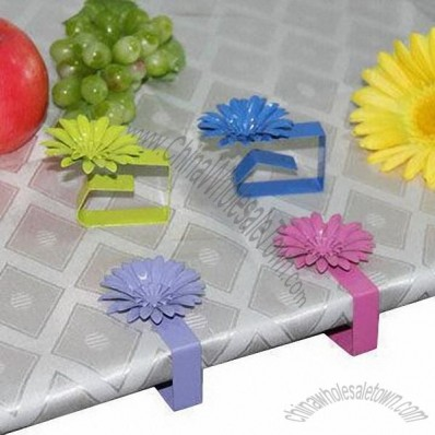 4-Piece Tablecloth Clips With 4 Colors