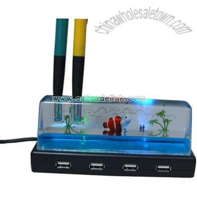 4 Ports USB2.0 HUB with pen holder