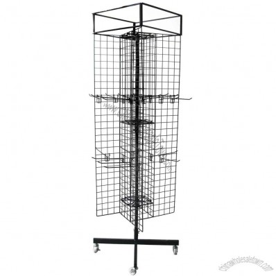 4 Sides Rotating Wire Mesh Stand