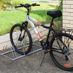 4-Slot Floor Mounted Bike Stand