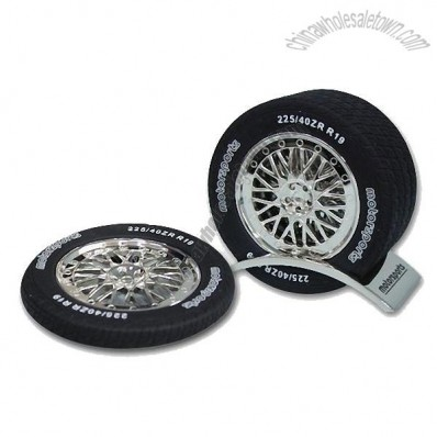 4 Spoke Tire Coasters wth Stand