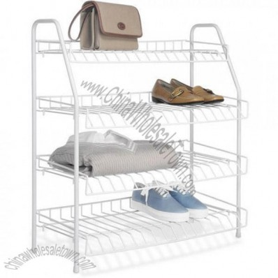 4 Tier Wire Shoe Rack