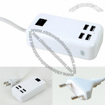 4 USB port Universal Adaptor for Cellphone Charger