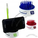 4 in 1 Phone Stand Pen Holder Screen Cleaner Storage Compartment