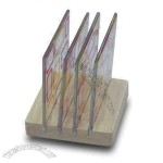 4-piece Glass Coasters with Wooden Holder
