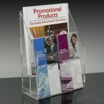 4-pocket Brochure Holder With Adjustable Pockets