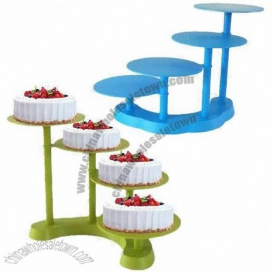 4-tier Plastic Cake Stand for Wedding