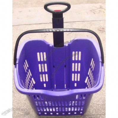 40L Plastic Shopping Basket