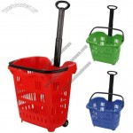 40L Rolling Shopping Basket