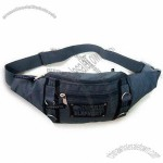 420D Two-tone Crinkle Nylon Waist Bag with Adjustable Belt
