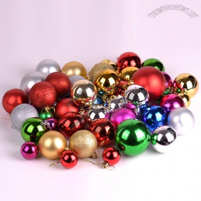 44pcs Christmas Balls Set