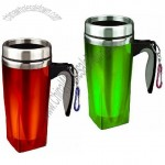 450ml Fashional Stainless Steel Auto Mugs with Carabiner