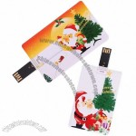 4GB & 8GB Santa & Christmas Present Credit Card Style USB Flash Memory Drive