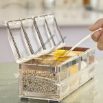 4pcs Acrylic Seasoning Box Set