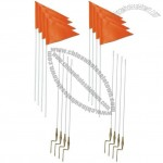 5' Glass Fiber Pole Soccer Corner Flags