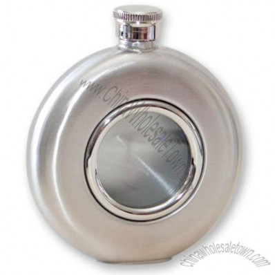5 Ounce Glass Window Round Flask